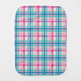 Tartan, plaid pattern burp cloth