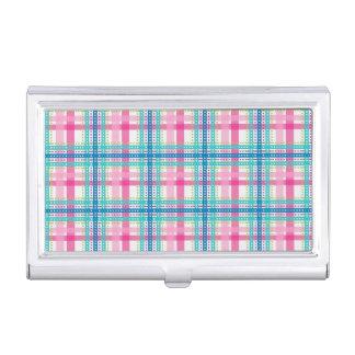 Tartan, plaid pattern business card holder