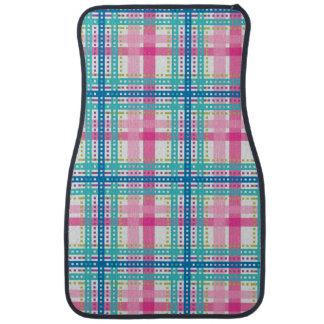 Tartan, plaid pattern car mat