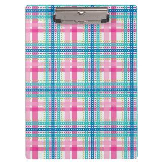 Tartan, plaid pattern clipboard