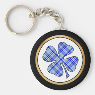 Tartan Plaid Pattern Collection - Blue 08 Key Ring