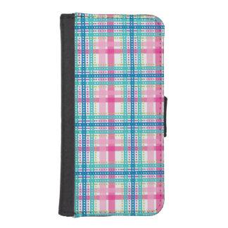 Tartan, plaid pattern iPhone SE/5/5s wallet case