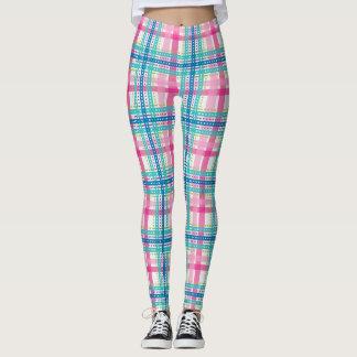 Tartan, plaid pattern leggings