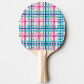Tartan, plaid pattern ping pong paddle