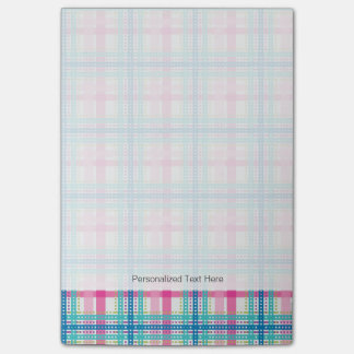 Tartan, plaid pattern post-it notes