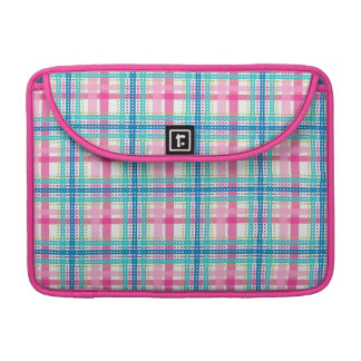 Tartan, plaid pattern sleeve for MacBook pro