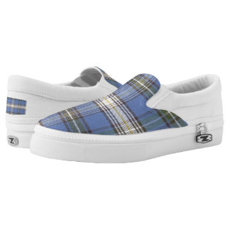 Tartan Plaid Pattern Slip-On Shoes