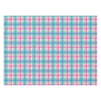 Tartan, plaid pattern tablecloth