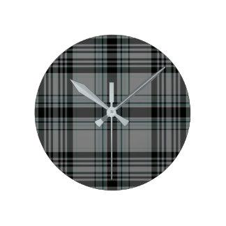 Tartan Plaid Round Clock
