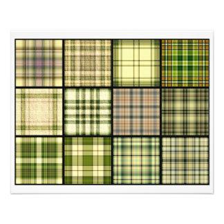 Tartan Plaid Tea Bag Tiles - Origami Folding Full Color Flyer