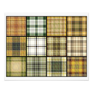 Tartan Plaid Tea Bag Tiles - Origami Folding Custom Flyer