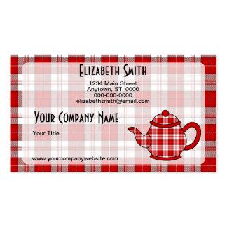 Tartan Plaid Teapot V2 Pack Of Standard Business Cards