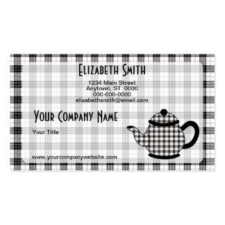 Tartan Plaid Teapot V3 Pack Of Standard Business Cards