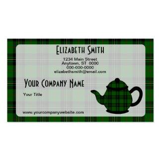 Tartan Plaid Teapot V6 Pack Of Standard Business Cards