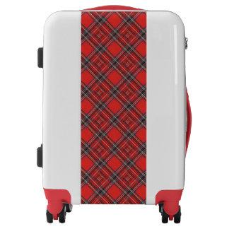 Tartan plaids pattern - traditional red fabric luggage