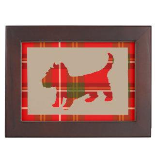 Tartan Puppy Design on Keepsake Gift Box