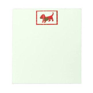 Tartan Puppy Notepad
