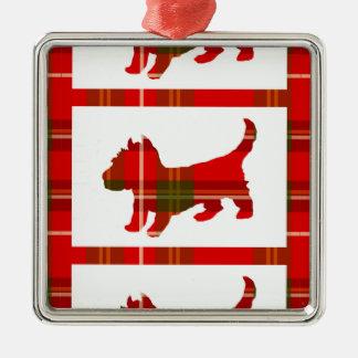 Tartan Puppy Ornament