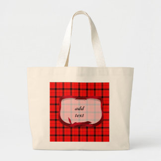 Tartan Red Plaid Christmas Background Canvas Bags