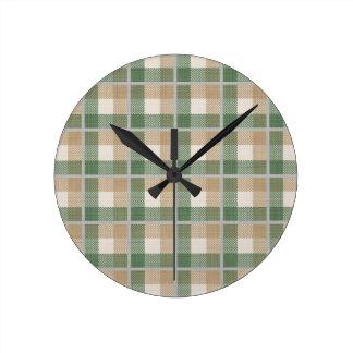 Tartan Round Clock