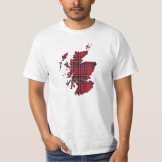 Tartan Scotland Map T-Shirt