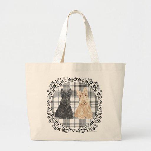 Tartan Scotties Tote Bag