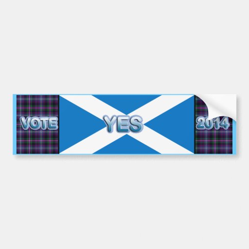 Tartan Scottish Independence Yes 2014 Flag Bumper Stickers