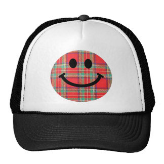 Tartan Scottish Smiley Trucker Hat
