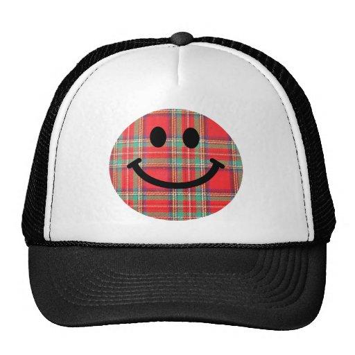 Tartan Scottish Smiley Trucker Hats