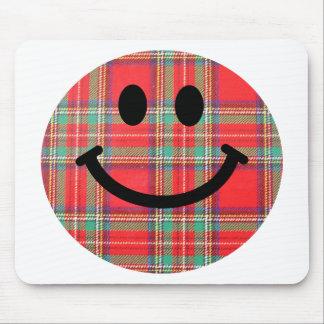 Tartan Scottish Smiley Mouse Mat