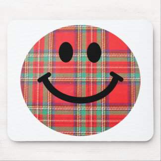 Tartan Scottish Smiley Mouse Pad