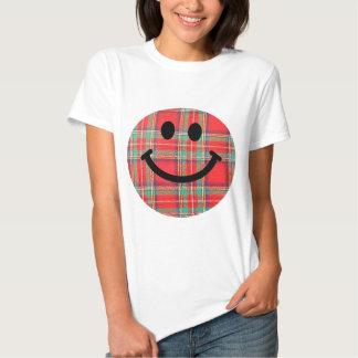 Tartan Scottish Smiley Tshirts
