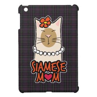 Tartan Siamese Cat Mum Case For The iPad Mini