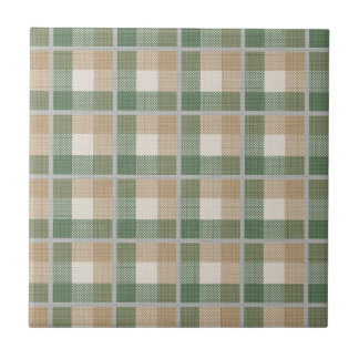 Tartan Small Square Tile