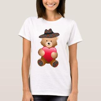 Tartan Teddy Bear Design T-Shirt