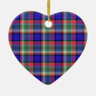 Tartan texture ceramic heart decoration