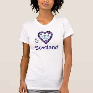 Tartan Thistle Heart Scottish Independence T-Shirt