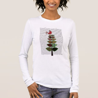 Tartan Tree Illustration Long Sleeve T-Shirt