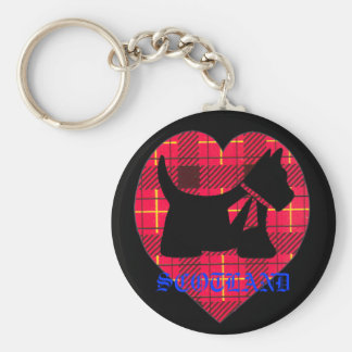 Tartan Westie Scotland Key Chain
