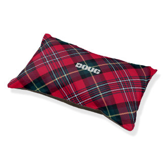 Tartan with (or without) Pet's Name Pet Bed