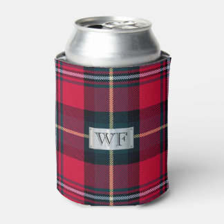 Tartan with (or without) your Initials Can Cooler