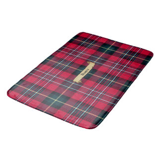Tartan with Your Name on it Bath Mats