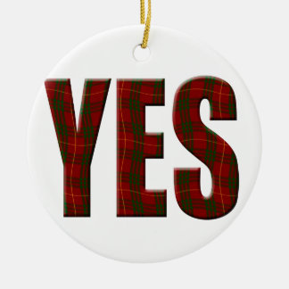 Tartan Yes Christmas Ornament