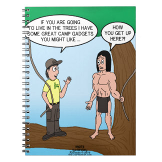 Tarzan Learns about Camp Gadgets Spiral Note Book