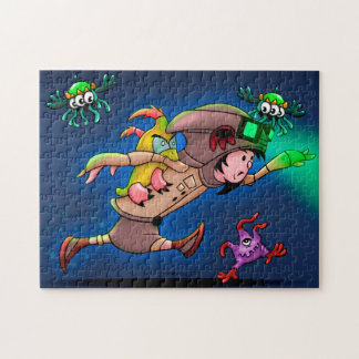 TASH AND PAL MONSTERS PUZZLE 11 X 14