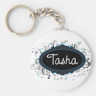 Tasha Nameplate Key Ring