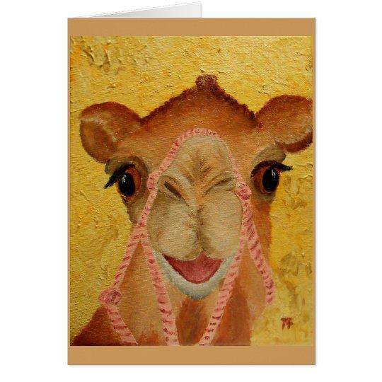 """Tasha"" the cute Camel Card"