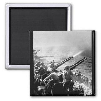 Task Force 58 raid on Japan.  40mm_War Image Square Magnet