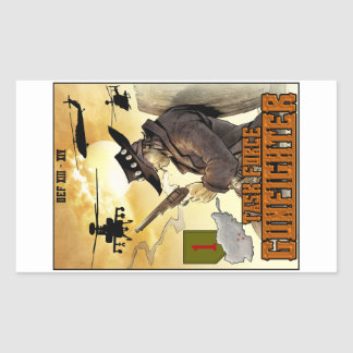 Task Force Gunfighter poster sticker - Sheet of 4