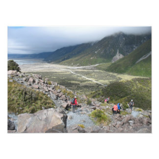 Tasman Valley view Southern Alps New Zealand Art Photo
